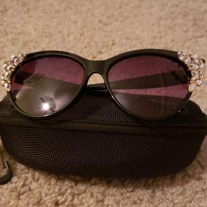 Black embellished sunglasses